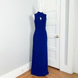 NWT | Trina Turk | Contessa Mock Neck Maxi Blue